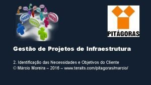 Gesto de Projetos de Infraestrutura 2 Identificao das