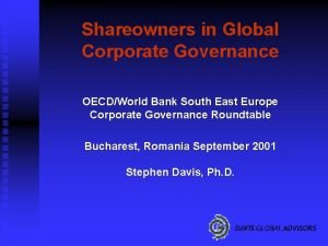 Shareowners in Global Corporate Governance OECDWorld Bank South