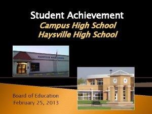 Student Achievement Campus High School Haysville High School