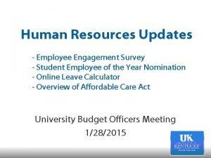 Human Resources Updates Employee Engagement Survey Student Employee