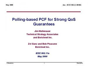 May 2000 doc IEEE 802 11 00061 Pollingbased