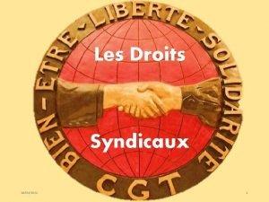 Les Droits Syndicaux 10032021 1 Les Textes de