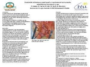 Encphalite ischmique compliquant un syndrome de la pince