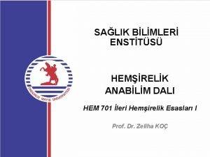 SALIK BLMLER ENSTTS HEMRELK ANABLM DALI HEM 701