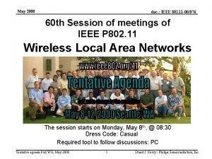 May 2000 doc IEEE 802 11 00076 60