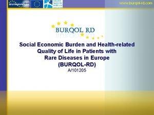 www burqolrd com Social Economic Burden and Healthrelated
