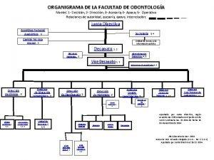 ORGANIGRAMA DE LA FACULTAD DE ODONTOLOGA Niveles 1