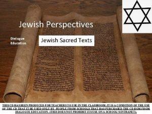 Jewish Perspectives Dialogue Education Jewish Sacred Texts THIS