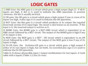 LOGIC GATES 1 AND Gate the AND gate