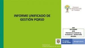 INFORME UNIFICADO DE GESTIN PQRSD MES SEPTIEMBRE 2020