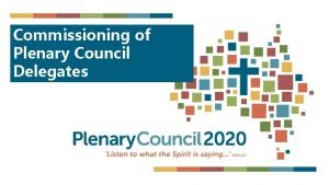 Commissioning of Plenary Council Delegates at Eucharist Welcome