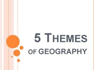 5 THEMES OF GEOGRAPHY 5 THEMES OF GEOGRAPHY