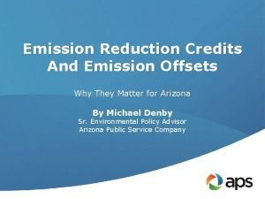 Emission Reduction Credits And Emission Offsets Why They