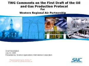 TWG Comments on the First Draft of the