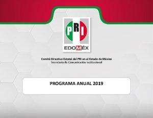 Comit Directivo Estatal del PRI en el Estado