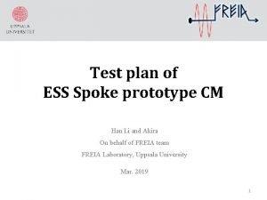 Test plan of ESS Spoke prototype CM Han