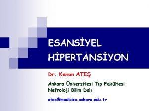 ESANSYEL HPERTANSYON Dr Kenan ATE Ankara niversitesi Tp