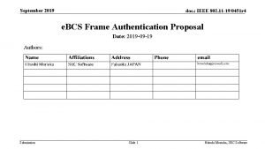 September 2019 doc IEEE 802 11 190451 r