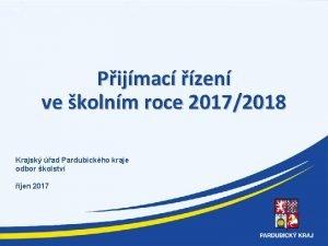 Pijmac zen ve kolnm roce 20172018 Krajsk ad