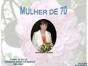 JOHANNA MARIA FAIXA 12 DO CD JOHANNA MARIA