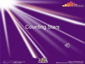 Counting Stars Lately I been I been losing