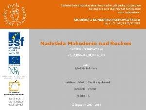 Zkladn kola lapanice okres Brnovenkov pspvkov organizace Masarykovo