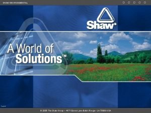 SHAW ENVIRONMENTAL Track 2006 The Shaw Group 4171