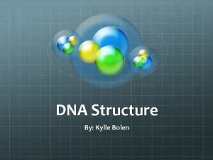 DNA Structure By Kylie Bolen What is DNA