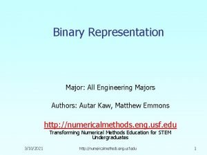Binary Representation Major All Engineering Majors Authors Autar