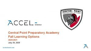 Central Point Preparatory Academy Fall Learning Options 2020