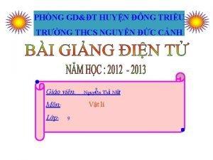 PHNG GDT HUYN NG TRIU TRNG THCS NGUYN