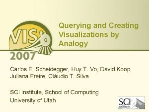 Querying and Creating Visualizations by Analogy Carlos E