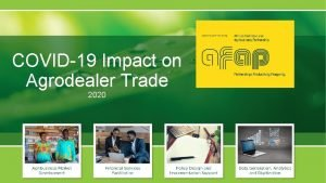 COVID19 Impact on Agrodealer Trade 2020 AFAP MARKET