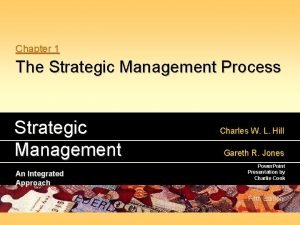 Chapter 1 The Strategic Management Process Strategic Management