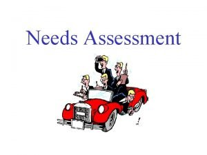 Needs Assessment Program Evaluation Types Evaluation of Need