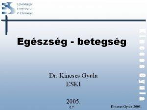 Dr Kincses Gyula ESKI 2005 17 Kincses Gyula