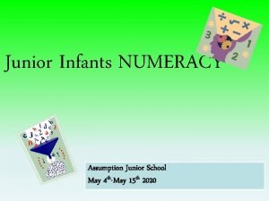 Junior Infants NUMERACY Assumption Junior School May 4