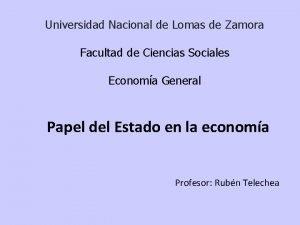 Universidad Nacional de Lomas de Zamora Facultad de