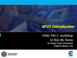 AP 23 Introduction ASASTN 2 5 workshop 13