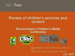 Review of childrens services and content Showcomotion Childrens