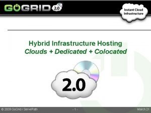 Hybrid Infrastructure Hosting Clouds Dedicated Colocated 2009 Go