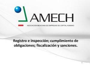 Registro e inspeccin cumplimiento de obligaciones fiscalizacin y