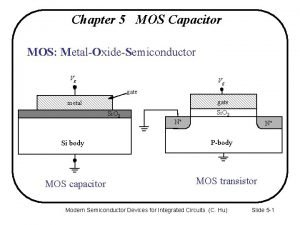Chapter 5 MOS Capacitor MOS MetalOxideSemiconductor Vg Vg
