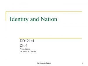 Identity and Nation DD 121 p 1 Ch