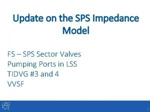Update on the SPS Impedance Model FS SPS