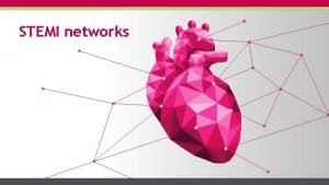 STEMI networks 2 Table of contents Objectives STEMI