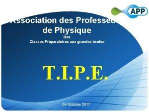 Association des Professeurs de Physique Des Classes Prparatoires