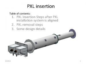 PXL insertion Table of contents 1 PXL Insertion