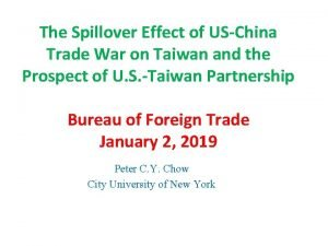 The Spillover Effect of USChina Trade War on