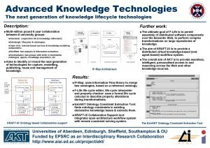 Advanced Knowledge Technologies The next generation of knowledge
